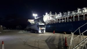 Molgas bunkering operation at Port of Cartagena